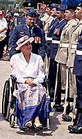 The Honorable Lise Thibault ,<br /> Quebec's Lieutnant-Governor<br /> (arriving at the Canada's day celebration in Montreal<br />  (Quebec, Canada), July 1st 1997.<br /> Lise thibault is the first handicaped person to hold that position.<br /> <br /> Photo : (c) 1997.  Pierre Roussel - images Distribution