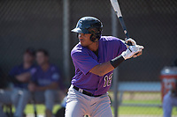 Colorado Rockies outfielder Daniel Montano (12) during a Minor League Spring Training game against the Los Angeles Angels at Tempe Diablo Stadium Complex on March 18, 2018 in Tempe, Arizona. (Zachary Lucy/Four Seam Images)