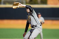 Missouri Tigers starting pitcher John Miles (41) in action against the Radford Highlanders at Wake Forest Baseball Park on February 21, 2014 in Winston-Salem, North Carolina.  The Tigers defeated the Highlanders 15-3.  (Brian Westerholt/Four Seam Images)