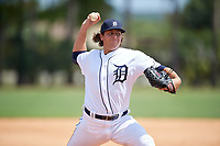 Detroit Tigers pitcher Jason Foley (24) during an Instructional League game against the Philadelphia Phillies on September 19, 2019 at Tigertown in Lakeland, Florida.  (Mike Janes/Four Seam Images)