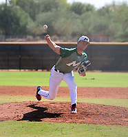 Janzen Keisel of Mountain West Baseball pitches in the Arizona Senior Fall Classic at the Padres complex on October 9, 2020 in Peoria, Arizona (Bill Mitchell)