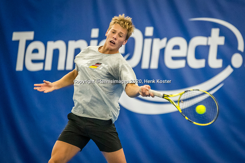 Amstelveen, Netherlands, 17  December, 2020, National Tennis Center, NTC, NK Indoor, National  Indoor Tennis Championships,   : 	Fons van Sambeek (NED) <br /> Photo: Henk Koster/tennisimages.com