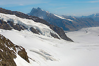Jungfrau Glaciers in snow  - Bernese Oberland Alps - Switzerland