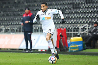 Sunday 18 March 2018<br /> Pictured:  Kenji Gorre of Swansea City<br /> Re: Swansea City v Manchester United U23s in the Premier League 2 at The Liberty Stadium on March 18, 2018 in Swansea, Wales.