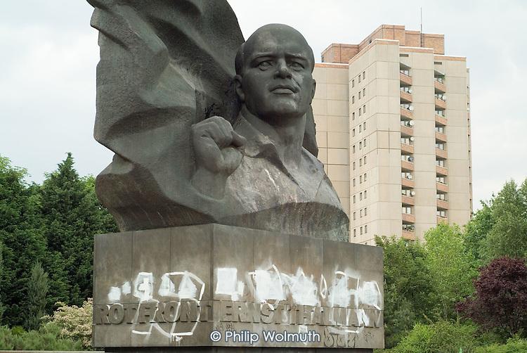 Statue of murdered pre-war German communist leader Ernst Thalmann in the Prenzlauer Berg district of Berlin