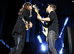 Imagine Dragons' Daniel Wayne Sermon and Ben McKee perform at Harveys Lake Tahoe Outdoor Arena in Stateline, Nev., on Saturday, July 18, 2015. <br /> Photo by Cathleen Allison