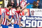 Kevin Gameiro of Atletico de Madrid celebrates after scoring a goal  during the match of Spanish La Liga between Atletico de Madrid and Valencia CF at  Vicente Calderon Stadium in Madrid, Spain. March 05, 2017. (ALTERPHOTOS / Rodrigo Jimenez)
