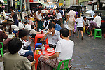 Afternoon tea at Bogyoke Aung San Market also know as Scott Market Yangon Myanmar ( Rangoon Burma ) South East Asia. 2006