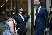 NEW YORK, NY: SEPTEMBER 14: New York City Mayor Bill De Blasio at the opening of One Vanderbilt Avenue, a new skyscraper in midtown, was joined by government and transit official, labor leaders and others on September 14, 2020 in New York City. Credit: mpi43/MediaPunch