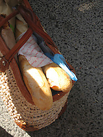 French bread in a market basket