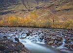 Glencoe, Scotland: Small falls on the river Coe in the Scottish highlands