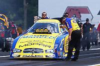 Jun. 2, 2013; Englishtown, NJ, USA: NHRA crew chief of funny car driver Matt Hagan during the Summer Nationals at Raceway Park. Mandatory Credit: Mark J. Rebilas-