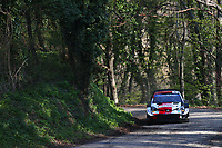 23rd April 2021; Zagreb, Croatia; WRC Rally of Croatia, stages 1-8;  Kalle Rovenpera -Toyota Yaris WRC