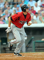 June 24, 2008: Outfielder Sam Carter of the Lake Elsinore Storm at the California-Carolina All-Star Game between members of the California League and the Carolina League at BB&T Coastal Field in Myrtle Beach, S.C. Photo: Tom Priddy / Four Seam Images