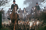 Foxhunting The Duke of Beaufort Hunt, Gloucestershire 1980s