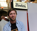 Tom Donhou on his stand at BESPOKED UK Handmade Bicycle Show 2015 held in the Brunel Engine Shed at Temple Meads Station and the Arnolfini Centre in Bristol, England. 18th April 2015.<br /> Photo: Eoin Clarke www.newsfile.ie