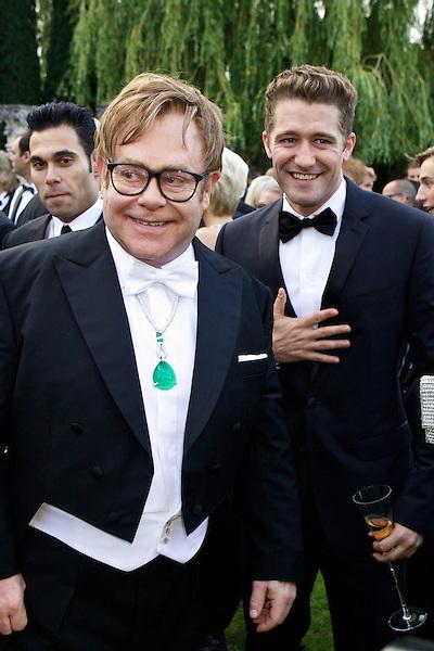 Elton John and Matthew Morrison the White Tie and Tiara Ball