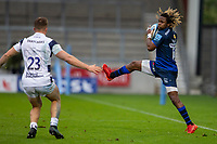 29th August 2020; AJ Bell Stadium, Salford, Lancashire, England; English Premiership Rugby, Sale Sharks versus Bristol Bears; Marland Yarde of Sale Sharks catches a lose ball