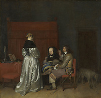 Gallant Conversation, Known as 'The Paternal Admonition', Gerard ter Borch (II), c. 1654