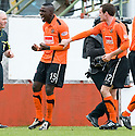 05/02/2011   Copyright  Pic : James Stewart.sct_jsp013_hamitlon_v_dundee_utd  .::  PRINCE BAUBEN CELEBRATES SCORING UNITED'S THIRD  ::.James Stewart Photography 19 Carronlea Drive, Falkirk. FK2 8DN      Vat Reg No. 607 6932 25.Telephone      : +44 (0)1324 570291 .Mobile              : +44 (0)7721 416997.E-mail  :  jim@jspa.co.uk.If you require further information then contact Jim Stewart on any of the numbers above.........