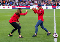 Los Angeles, CA - April 7, 2019: The USWNT defeated Belgium 6-0 during an international friendly at Banc of California Stadium.