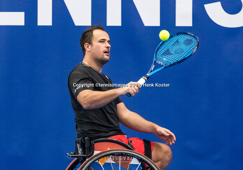 Amstelveen, Netherlands, 8  December, 2020, National Tennis Center, NTC, NKR, National  Indoor Wheelchair Tennis Championships, Men's single:  Tom Egberink  (NED)<br /> Photo: Henk Koster/tennisimages.com