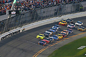 Monster Energy NASCAR Cup Series<br /> Daytona 500<br /> Daytona International Speedway, Daytona Beach, FL USA<br /> Sunday 18 February 2018<br /> Denny Hamlin, Joe Gibbs Racing, FedEx Express Toyota Camry and Kurt Busch, Stewart-Haas Racing, Haas Automation/Monster Energy Ford Fusion<br /> World Copyright: Russell LaBounty<br /> LAT Images