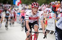 Jasper Stuyven (BEL/Trek-Segafredo) up the gravel section in the final stretch to the finish line up La Planche des Belles Filles<br /> <br /> Stage 6: Mulhouse to La Planche des Belles Filles (157km)<br /> 106th Tour de France 2019 (2.UWT)<br /> <br /> ©kramon