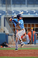 Tampa Bay Rays Tyler Frank (16) at bat during a Florida Instructional League game against the Baltimore Orioles on October 1, 2018 at the Charlotte Sports Park in Port Charlotte, Florida.  (Mike Janes/Four Seam Images)