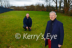 Cllr Donal O'Grady and Tim O'Donighue on the site of the new Skateboard Park which will be built beside the Killarney Sports and Leisure Centre
