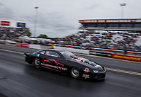 Sep 1, 2017; Clermont, IN, USA; NHRA pro stock driver Larry Morgan during qualifying for the US Nationals at Lucas Oil Raceway. Mandatory Credit: Mark J. Rebilas-USA TODAY Sports