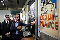 FRANCOIS FILLON VISITE LE MEMORIAL DE LA SHOAH, LE 16 JANVIER 2017 A PARIS.