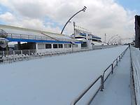 SAO PAULO, SP, 06 DE FEVEREIRO 2013. CARNAVAL 2013 - A pista recebeu nesta manhã de quarta-feira (6), uma repintura, na zona norte da capital paulista. FOTO: MAURICIO CAMARGO / BRAZIL PHOTO PRESS.
