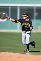 Pittsburgh Pirates infielder Adalberto Santos (75) during a minor league spring training intrasquad game on March 30, 2014 at Pirate City in Bradenton, Florida.  (Mike Janes/Four Seam Images)
