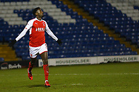 GOAL - Fleetwood Town's Jordy Hiwula celebrates scoring his sides third goal with during the The Checkatrade Trophy match between Bury and Fleetwood Town at Gigg Lane, Bury, England on 9 January 2018. Photo by Juel Miah/PRiME Media Images.