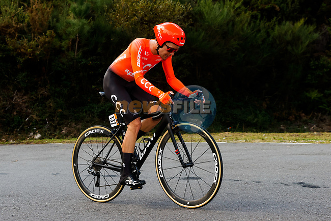 William Barta (USA) CCC Team climbs during Stage 13 of the Vuelta Espana 2020 an individual time trial running 33.7km from Muros to Mirador de Ézaro. Dumbría, Spain. 3rd November 2020. <br /> Picture: Luis Angel Gomez/PhotoSportGomez | Cyclefile<br /> <br /> All photos usage must carry mandatory copyright credit (© Cyclefile | Luis Angel Gomez/PhotoSportGomez)