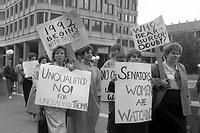 Protesting the confirmation of Clarence Thomas 1991