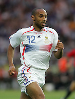 Thierry Henry.  Italy defeated France on penalty kicks after leaving the score tied, 1-1, in regulation time in the FIFA World Cup final match at Olympic Stadium in Berlin, Germany, July 9, 2006.