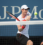 Andy Murray (GBR) defeats Florian Mayer (GER) 7-6, 6-2, 6-2 at the US Open being played at USTA Billie Jean King National Tennis Center in Flushing, NY on September 1, 2013