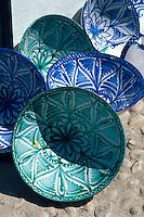 Spanien, Andalusien, Verkauf von Keramik  in Alhama de Granada