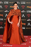 Nora Navas attends 30th Goya Awards red carpet in Madrid, Spain. February 06, 2016. (ALTERPHOTOS/Victor Blanco)