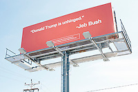 Jeb Bush - Billboard - Manchester, NH - 6 Feb. 2016