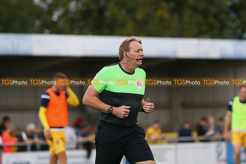 Referee Trevor Kettle warms up ahead of Sutton United vs Stevenage, Sky Bet EFL League 2 Football at the VBS Community Stadium on 11th September 2021