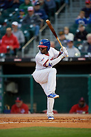 Buffalo Bisons right fielder Dwight Smith Jr. (2) bats during a game against the Pawtucket Red Sox on August 31, 2017 at Coca-Cola Field in Buffalo, New York.  Buffalo defeated Pawtucket 4-2.  (Mike Janes/Four Seam Images)