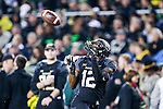 Baylor Bears wide receiver Quan Jones (12) in action during the game between the Oklahoma Sooners  and the Baylor Bears at the McLane Stadium in Waco, Texas.
