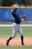 New York Yankees minor league player shortstop Jose Mojica #24 throws to first during a game vs the Toronto Blue Jays at the Englebert Minor League Complex in Dunedin, Florida;  March 21, 2011.  Photo By Mike Janes/Four Seam Images