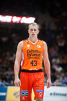VALENCIA, SPAIN - OCTOBER 31: Sikma during ENDESA LEAGUE match between Valencia Basket Club and Rio Natura Monbus Obradoiro at Fonteta Stadium on   October 31, 2015 in Valencia, Spain