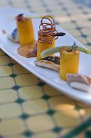 Europe/France/2A/Corse du Sud/Porto-Vecchio: Déclinaison de bouillabaisse recette de Julien Marseault -restaurant: Santa Marina, Baie de Santa Giulia,