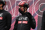 UAE Team Emirates at sign on before the start of Stage 3 of the 2021 Giro d'Italia, running 190km from Biella to Canale, Italy. 10th May 2021.  <br /> Picture: LaPresse/Gian Mattia D'Alberto | Cyclefile<br /> <br /> All photos usage must carry mandatory copyright credit (© Cyclefile | LaPresse/Gian Mattia D'Alberto)