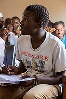 Senegal, Touba.  Young Man at the Al-Azhar Institute of Islamic Studies.